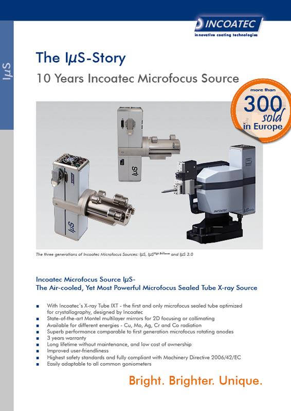 IµS 1 0 - incoatec - innovative coating technologies